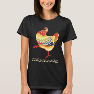 Vintage Colorful Barnyard Chicken, Eggsellent T-Shirt