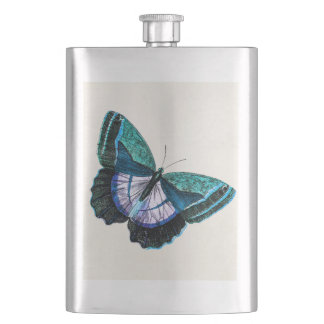 Vintage Colorful Blue Purple Butterfly Template Flask