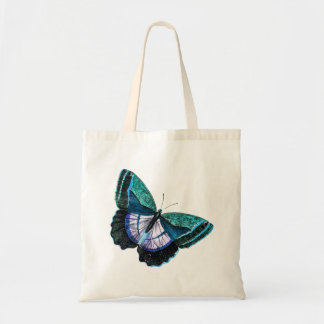 Vintage Colorful Blue Purple Butterfly Template Tote Bag