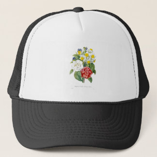 vintage colorful botanical flowers by Redoute. Trucker Hat
