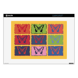 "Vintage Colorful Butterfly Fine Art 15"" Laptop Decal"