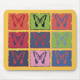 Vintage Colorful Butterfly Fine Art Mouse Pad