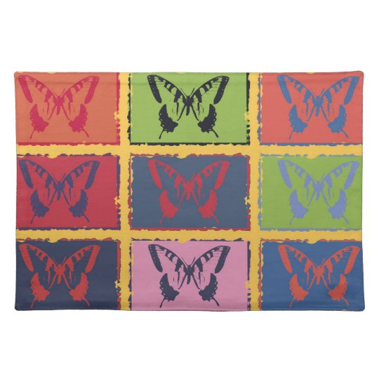 Vintage Colorful Butterfly Fine Art Placemat