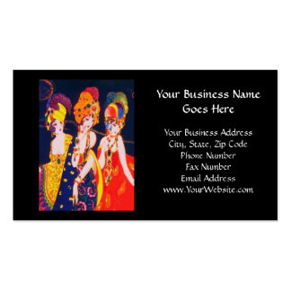 Vintage Colorful Deco Women with Jewelry Double-Sided Standard Business Cards (Pack Of 100)