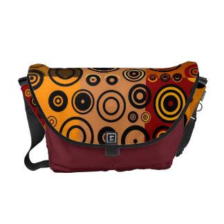 Vintage Colorful Fifties Abstract Art Messenger Bag