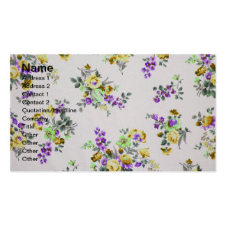 Vintage Colorful Floral Double-Sided Standard Business Cards (Pack Of 100)