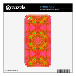 Vintage Colorful Floral Retro Seamless Abstract iPhone 4 Decal