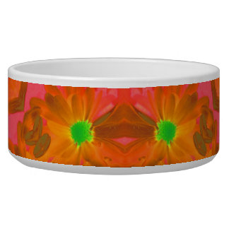 Vintage Colorful Floral Retro Seamless Abstract Pet Bowl