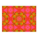 Vintage Colorful Floral Retro Seamless Abstract Post Card