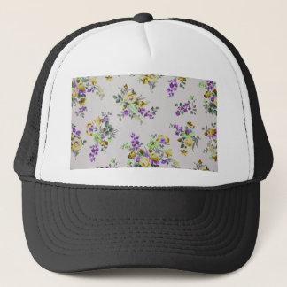 Vintage Colorful Floral Trucker Hat