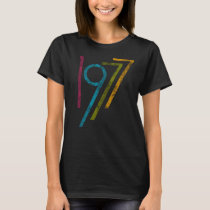 Vintage Colorful Graphic 1977 40th Birthday T-Shirt