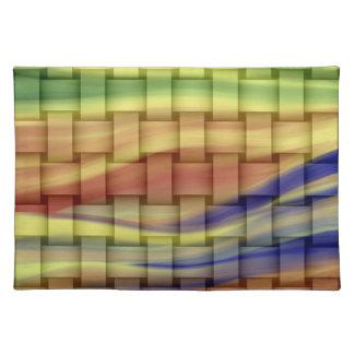 Vintage colorful graphic design cloth placemat
