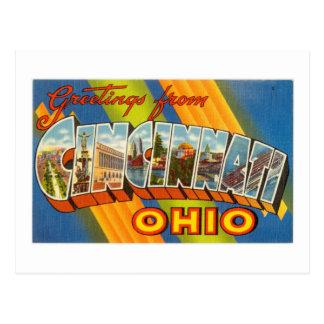 Vintage Colorful Greetings From Cincinnati Ohio Postcard