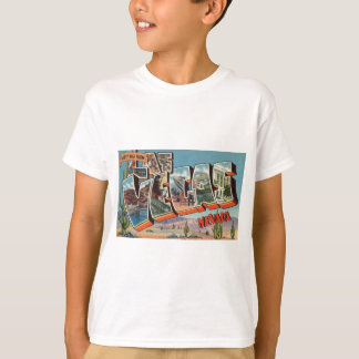 Vintage Colorful Greetings From Las Vegas Nevada T-Shirt