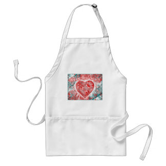 Vintage Colorful Happy New Year Design Aprons