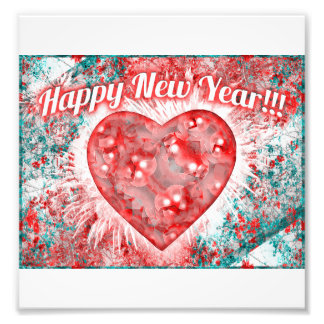 Vintage Colorful Happy New Year Design Art Photo