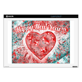"""Vintage Colorful Happy New Year Design Decal For 17"""" Laptop"""