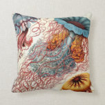 Vintage Colorful Jellyfish Pillow