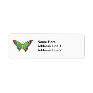 Vintage Colorful Moth Label