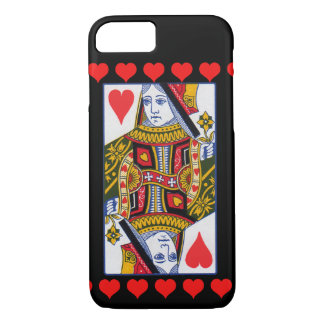 Vintage Colorful Ornate Queen With Hearts iPhone 7 Case