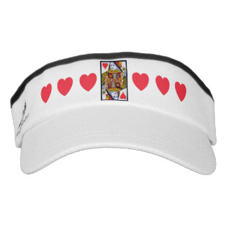 Vintage Colorful Ornate Queen With Hearts Visor