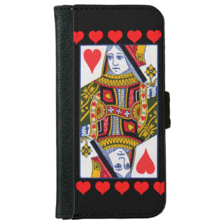 Vintage Colorful Ornate Queen With Hearts Wallet Phone Case For iPhone 6/6s