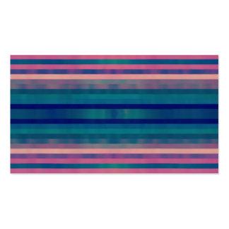 Vintage Colorful Pastel Stripes Pattern Design Art Business Card