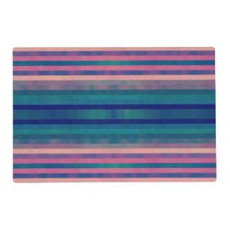 Vintage Colorful Pastel Stripes Pattern Design Art Placemat