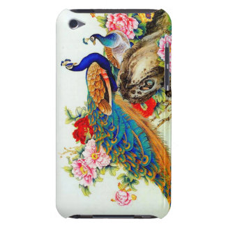 Vintage Colorful Peacocks iPod Case-Mate Cases