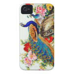 Vintage Colorful Peacocks Case-Mate iPhone 4 Case