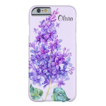 Christmas Themed Vintage Colorful Purple Lilac Floral iPhone 6 Case