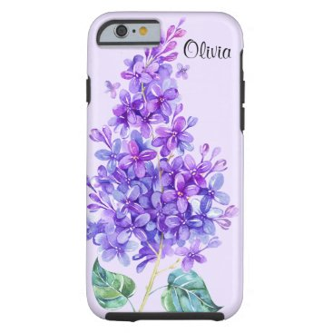 Vintage Colorful Purple Lilac Tough iPhone 6 Case