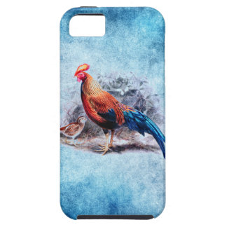 VINTAGE COLORFUL ROOSTER PAINTING iPhone SE/5/5s CASE