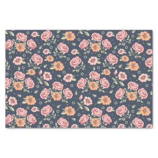 Vintage colorful rose pattern illustration tissue paper