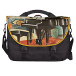 Vintage Colorful Steinway Piano Instrument Ad Art Laptop Bags