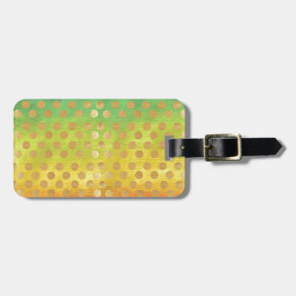 Vintage colorful tapestry gold polka dots nouveau tag for bags