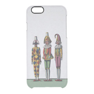 Vintage Colorful Whimsical Three Jester Dolls Clear iPhone 6/6S Case