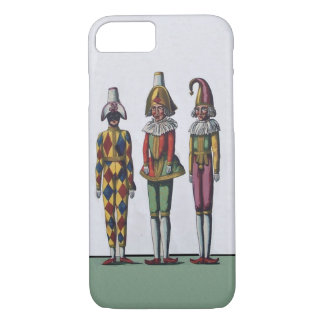 Vintage Colorful Whimsical Three Jester Dolls iPhone 8/7 Case