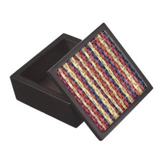 Vintage colorful wicker art graphic design keepsake box