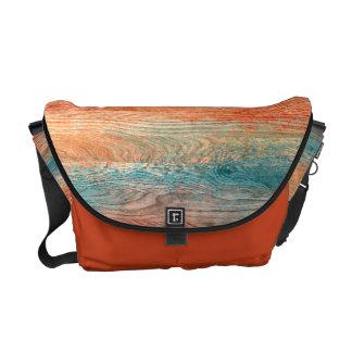 Vintage Colorful Wood Grain #3 Messenger Bag