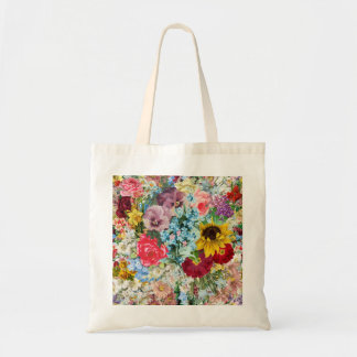 Vintage colorido floral bolsa tela barata