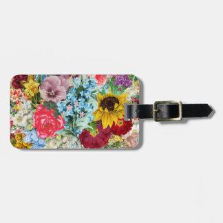 Vintage colorido floral