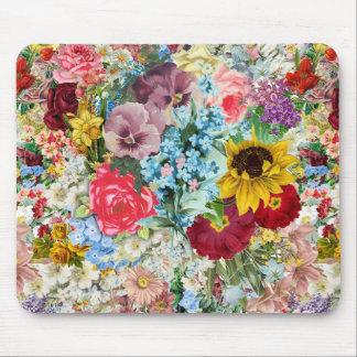 Vintage colorido floral alfombrillas de ratón