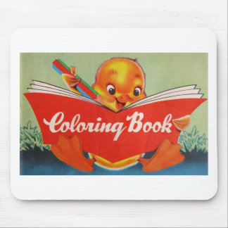 Vintage Coloring Book w/Chick Mousepad