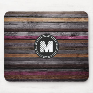 Vintage Colors Stripes Wood Look #10 Mouse Pad