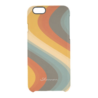 Vintage Colors Wave Striped Clear iPhone 6 case Uncommon Clearly™ Deflector iPhone 6 Case