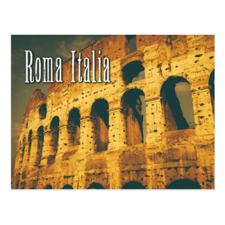 vintage colosseum roma italia postcard
