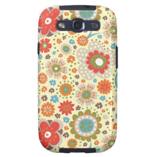 Vintage colourful floral pattern galaxy SIII cover