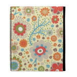 Vintage colourful floral pattern iPad folio cover