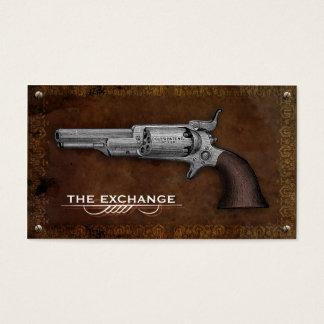 Vintage Colt Revolver Gun Shop Business Cards